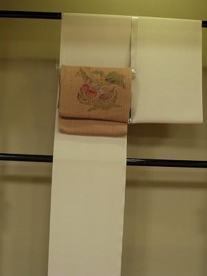 京小紋と絹シナ布帯