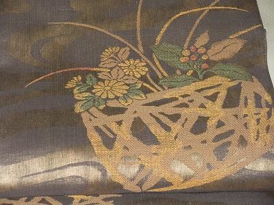 真綿紬袋帯